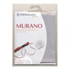 Zweigart Murano silbergrau, Precut 48x68 cm