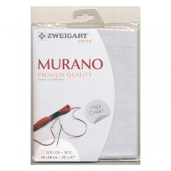 Zweigart Murano hellsilber, Precut 48x68 cm