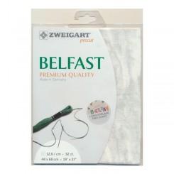 Zweigart Vintage Belfast Precut himmel, 48x68 cm