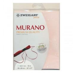 Zweigart Murano Splash rosé, Precut 48x68 cm