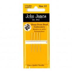 John James Nadeln für Perlenstickerei