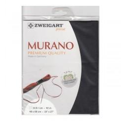 Zweigart Murano schwarz, Precut 48x68 cm