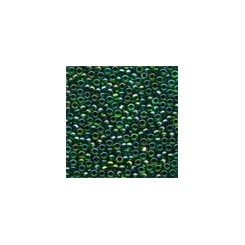 MH Glass Seed Beads 00332 - emerald rainbow