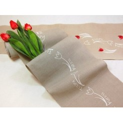 "Leinenband ""Tulipa"" - 34 cm breit"