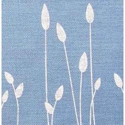 """Leinenband """"Wiesenzauber"""", blau - 34 cm breit"""