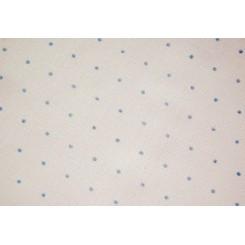 Leinenband mit Pünktchendruck, hellblau - 20 cm breit, 116 cm lang