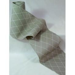 """Leinenband """"Rauten-Muster"""" - 24 cm breit"""