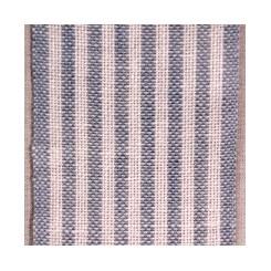 Leinenband m. dünnen Streifen, gebleicht/ rauchblau - 5,5 cm breit