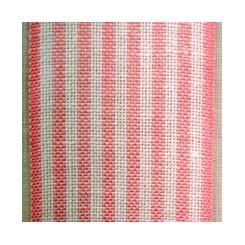 Leinenband mit dünnen Streifen, rosa/weiß - 5,5 cm breit