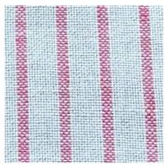Leinenband gestreift, natur/rot - 12 cm breit