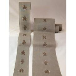 """Leinenband """"Lebkuchenkinder"""", 24 cm breit - 1 Rapport"""