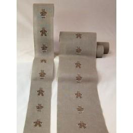 """Leinenband """"Lebkuchenkinder"""" - 24 cm breit"""