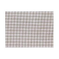 Leinenband kleinkariert, weiß/natur - 5,5 cm breit
