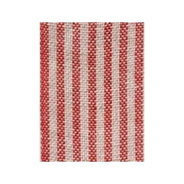 Leinenband mit dünnen Streifen, rot/natur - 16 cm breit