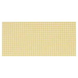 Dekostoff LILLE gelb/weiß kariert - 180 cm breit
