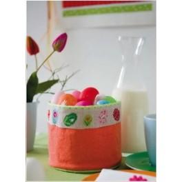 """Stoffkörbchen orange, aus """"Frohe Ostern"""""""
