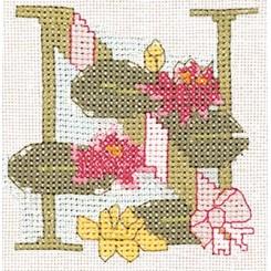 Blumenalphabet Buchstabe N