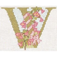 Blumenalphabet Buchstabe W