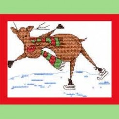 RED THE REINDEER 'SKATING'