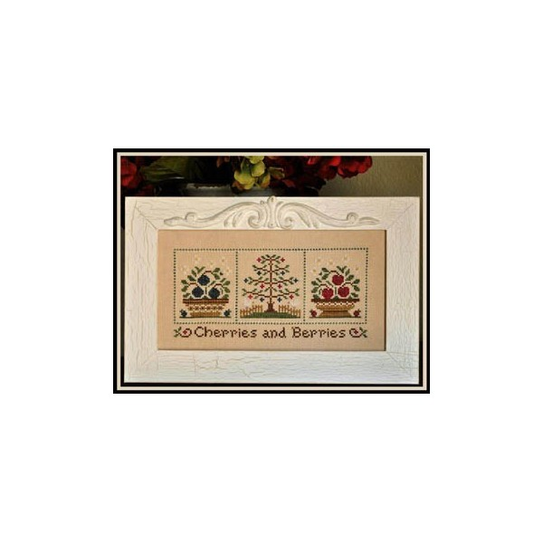 Cherries And Berries Stickvorlage Fadenkreuz