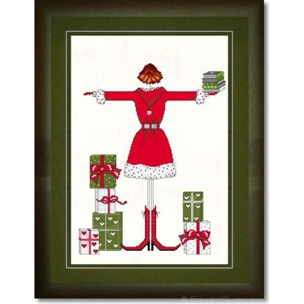 lulu belle zu weihnachten 2009 stickpackung fadenkreuz. Black Bedroom Furniture Sets. Home Design Ideas