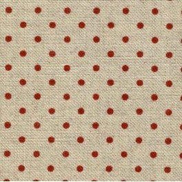 Zweigart Belfast Petit Point rot gepunktet, 140 cm
