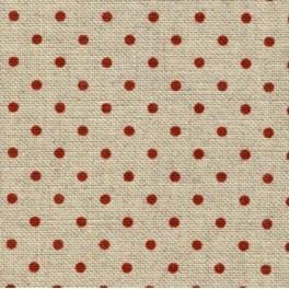 Zweigart Belfast Petit Point,12,6 Fdn./cm, rot gepunktet, Zuschnitte