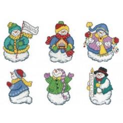 JOYOUS SNOWMAN ORNAMENTS