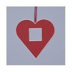 Deko-Herz groß - rot