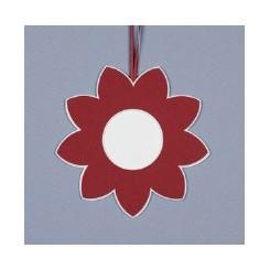 Deko-Blüte groß - rot