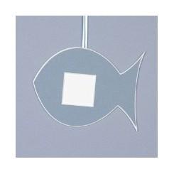 Deko-Fisch groß - mittelblau