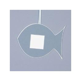 Deko-Fisch klein - mittelblau