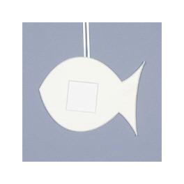 Deko-Fisch klein - weiß