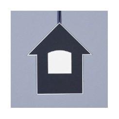 Deko-Haus groß - dunkelblau
