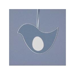 Deko-Vogel groß - blau