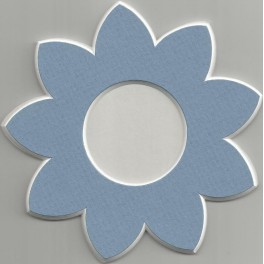 Deko-Blüte klein - blau