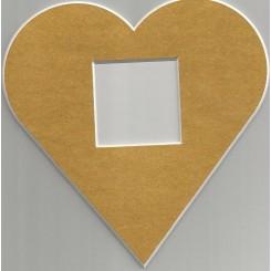 Deko-Herz groß - gold