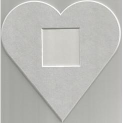 Deko-Herz groß - silber
