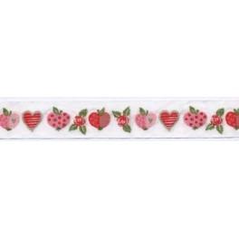 """Webband  """"Äpfel und Rosen"""""""