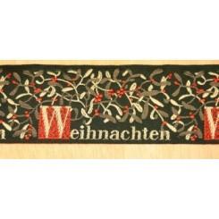 """Webband """"Weihnachten"""", dunkelgrün"""