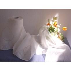 """Soft-Leinenband """"Herzchentanz"""", 25 cm breit - 130 cm"""