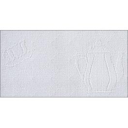 Geschirrtuch Kanne - weiß, 50 x 70 cm