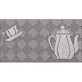 Geschirrtuch Kanne - schwarz, 50 x 70 cm