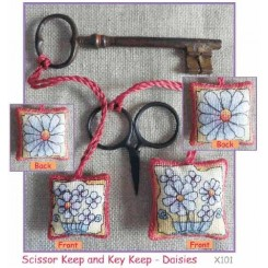 SCISSOR KEEP AND KEY KEEP - DAISIES