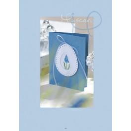 "Passepartout-Karte, blau - ""Muscari"""