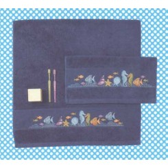 Gästehandtuch dunkelblau - 30 x 50 cm