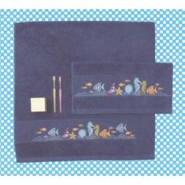 Gästehandtuch dunkelblau- 30 x 50 cm