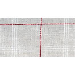 Seefeld - steingrau/rot/rohweiß - 180 cm breit
