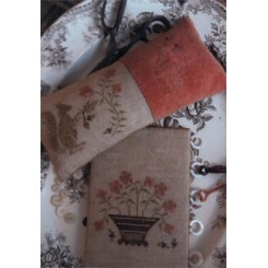 SQUIRREL PINKEEP & FLOWER BASKET THREAD BOARD