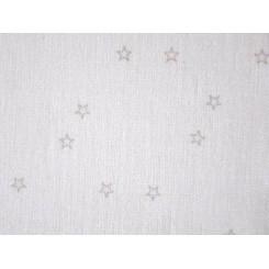 """Leinenband """"Sternenhimmel"""", weiß - 20 cm breit"""